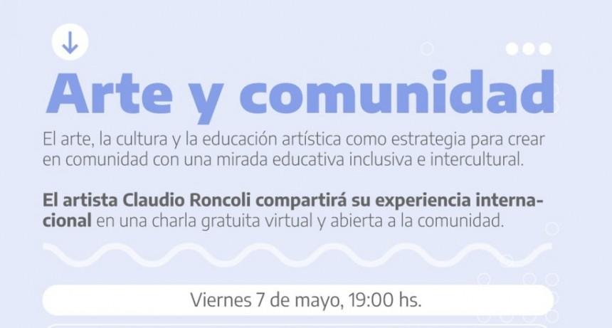 """Luján: Se encuentra abierta la inscripción a la charla virtual """"Arte y Comunidad"""" con el artista internacional Claudio Roncoli"""