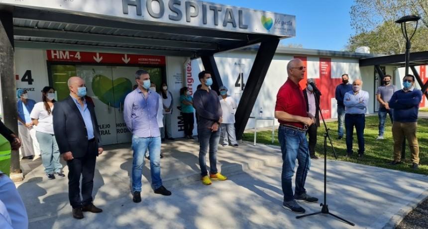 Gral. Rodríguez: García y Gollan juntos en la reapertura del Hospital Modular para pacientes con COVID-19