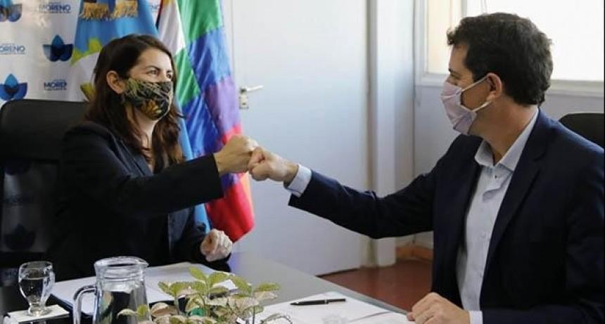 """Moreno: La intendenta Fernández recibió al Ministro del Interior Eduardo """"Wado"""" de Pedro"""