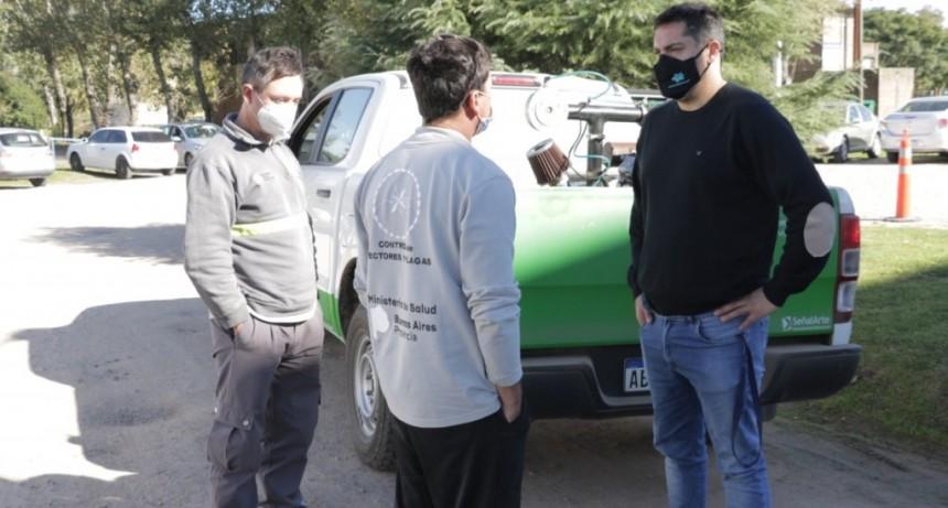 Bolívar: Zoonosis junto a la dirección provincial de epidemiología pulverizó en el distrito y las localidades
