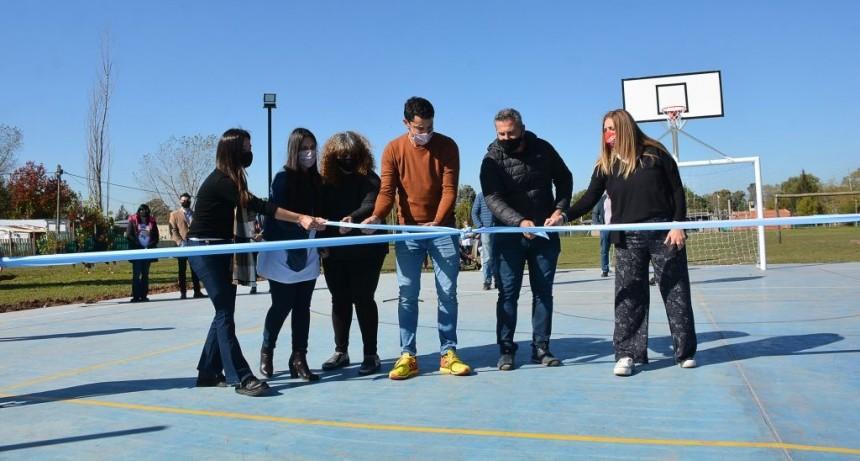 Gral. Rodríguez: El Intendente inauguró el playón deportivo del Barrio Los Aromos