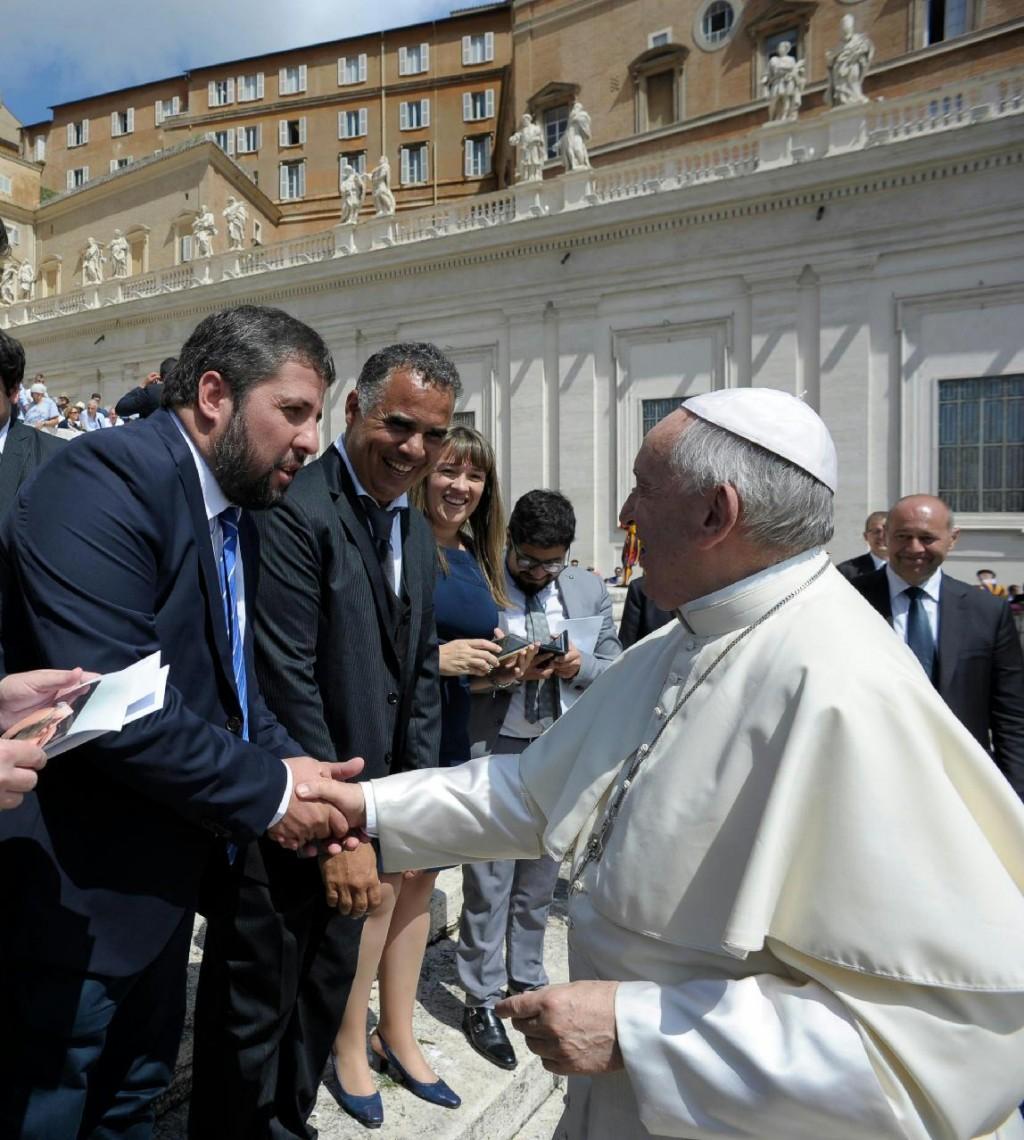 Concejal de Moreno fue recibido por el Papa Francisco