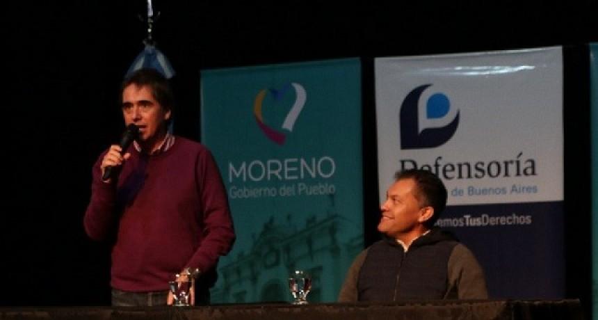 Moreno: Festa y Lorenzino encabezaron una jornada en defensa de los derechos