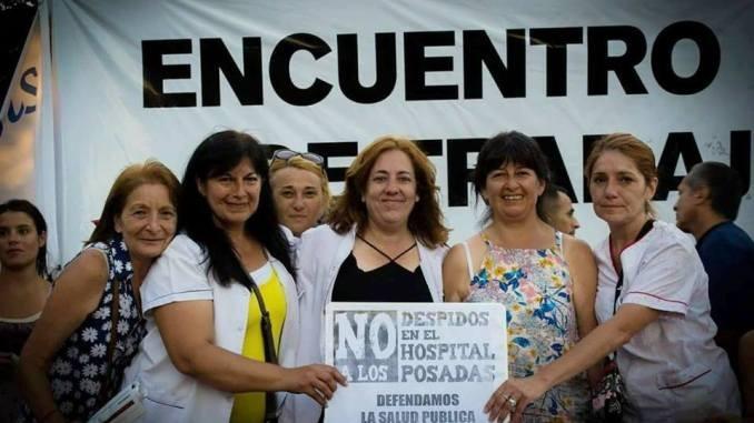 """Karina Almirón: """"Peleamos por la reincorporación porque el Posadas es de los trabajadores y de los pacientes"""""""