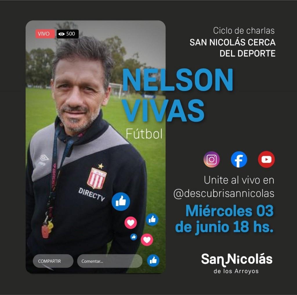 """El nicoleño Nelson Vivas, en el ciclo de charlas """"San Nicolás cerca del deporte"""""""