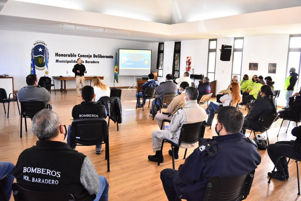 Baradero: El municipio desarrolló un curso de capacitación sobre bioseguridad