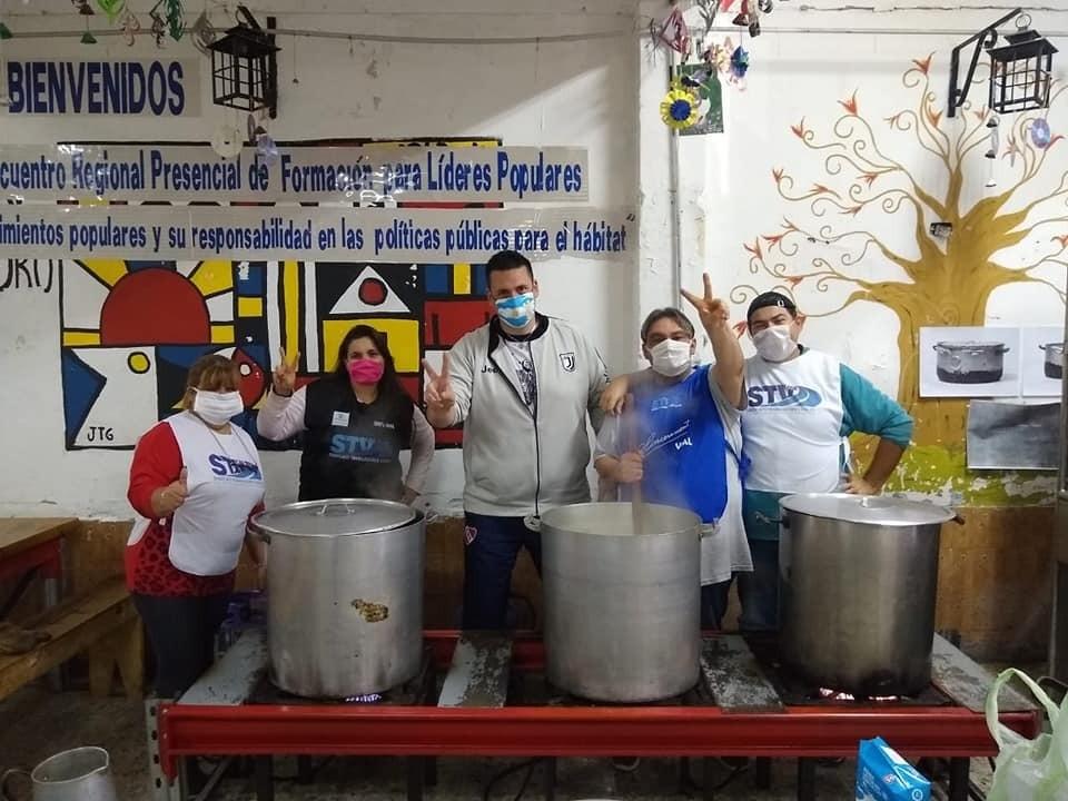 Trabajadores Viales organizan ollas populares en CABA y distintos puntos del país
