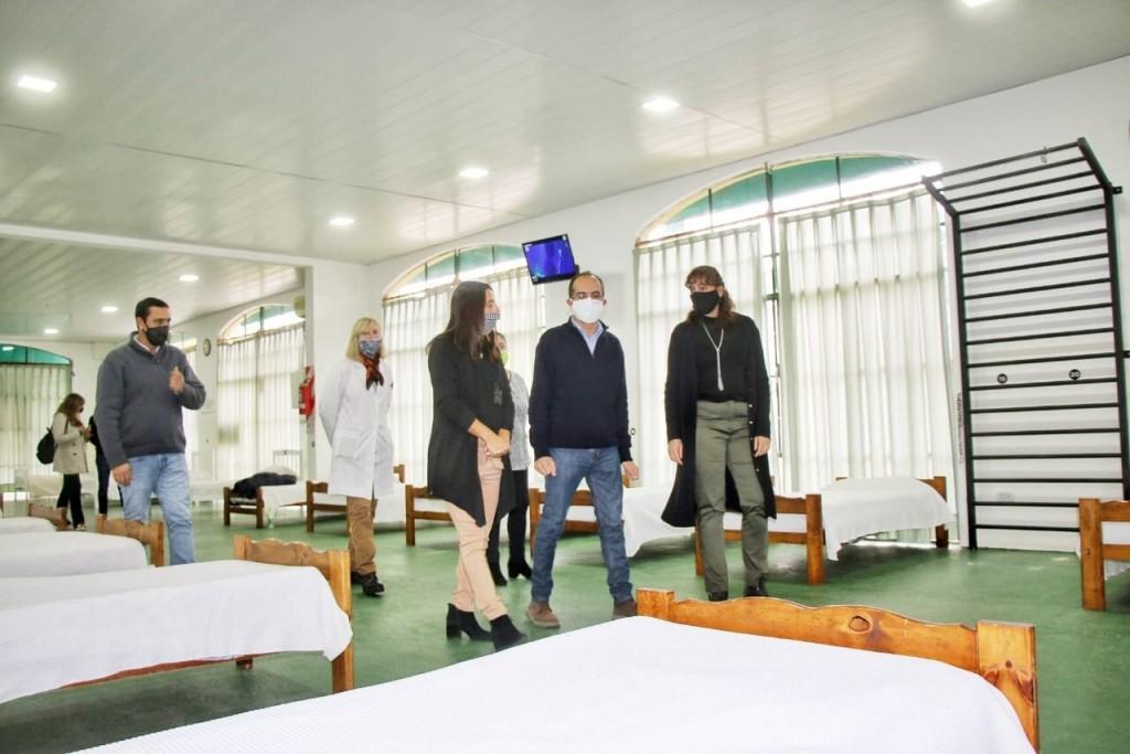 Bolívar: Pisano presentó el centro de aislamiento para pacientes con COVID