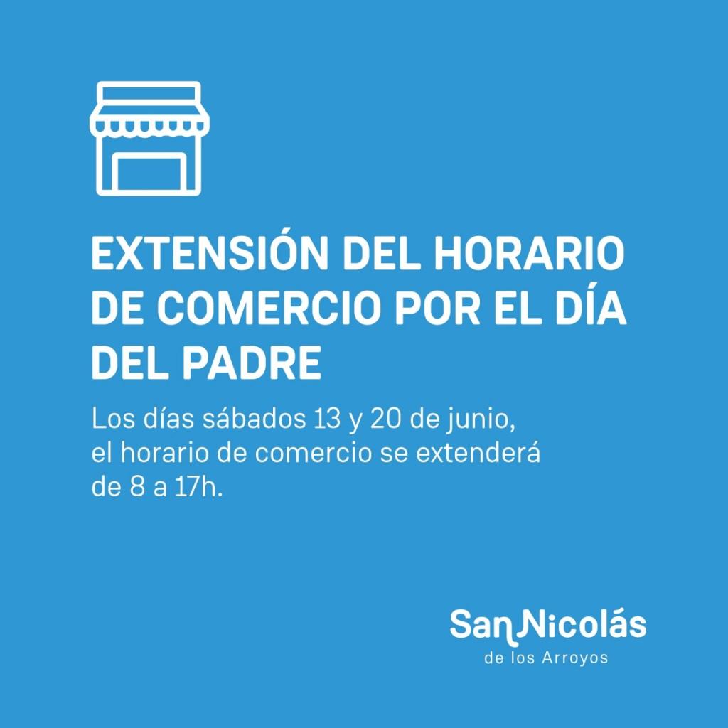 San Nicolás: Los comercios extienden el horario por el día del padre