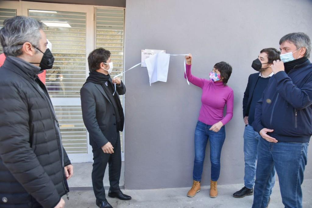 """Mayra Mendoza, Axel Kicillof y Máximo Kirchner inauguraron el Caps """"Julieta Lanteri"""" en San Francisco Solano"""