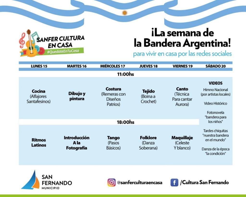 San Fernando: El Municipio realiza múltiples festejos por la Semana de la Bandera Argentina
