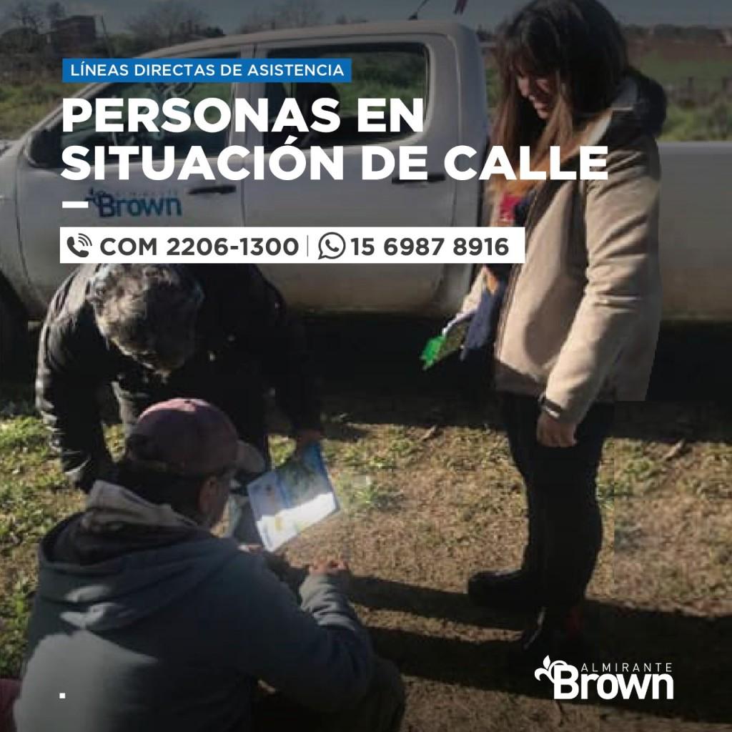 Alte. Brown: El municipio intensifica la asistencia a vecinos en situación de calle