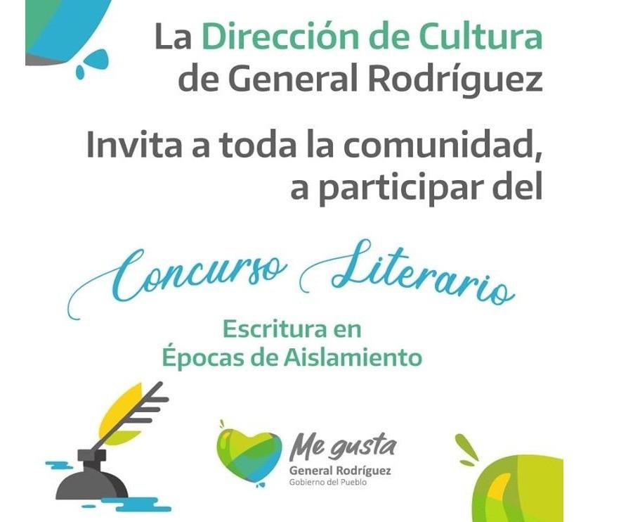 """Gral. Rodríguez: Se conocieron los ganadores del Concurso """"Escritura en épocas de Aislamiento físico"""""""