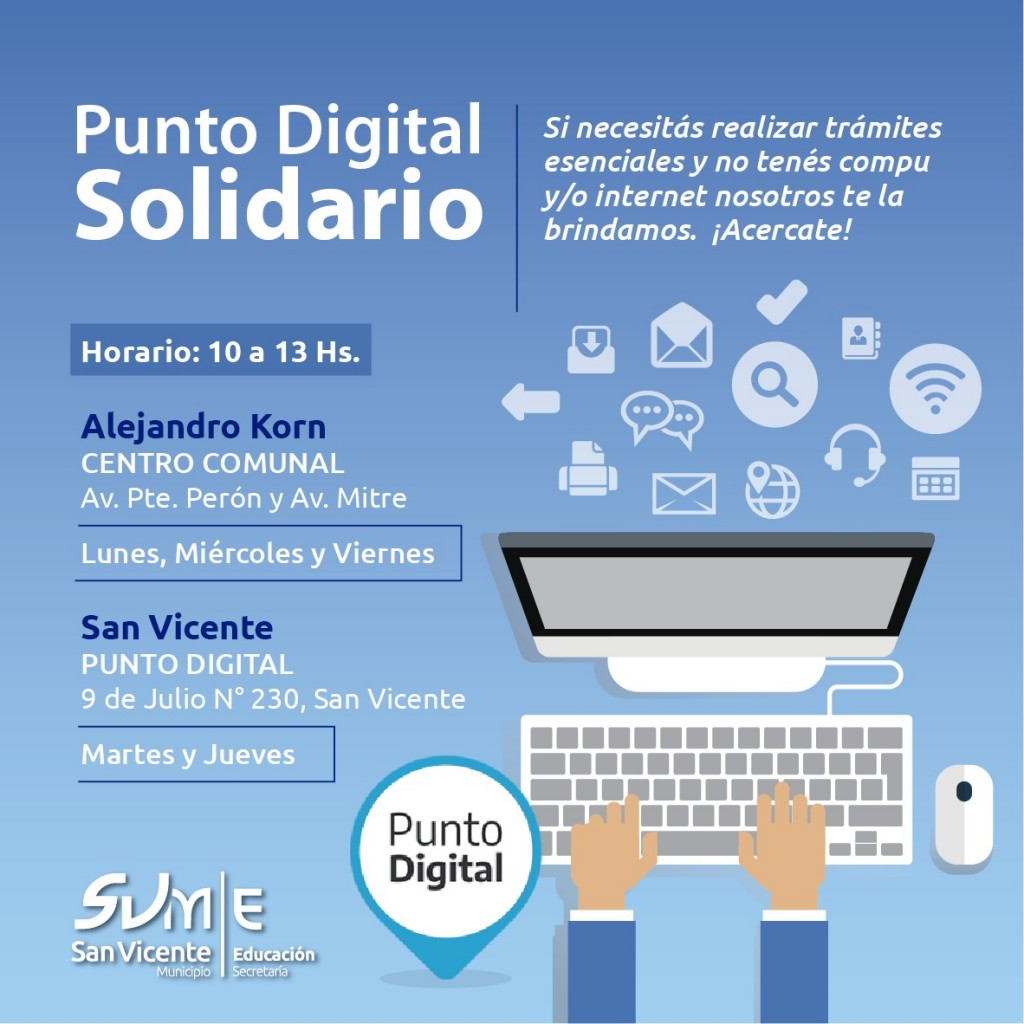 San Vicente: Punto digital solidario