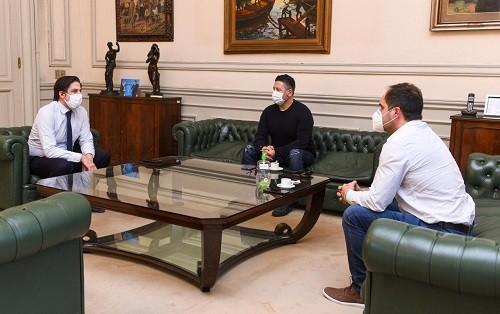 El Ministro Nicolás Trotta recibió a los intendentes Maggiotti y Menéndez