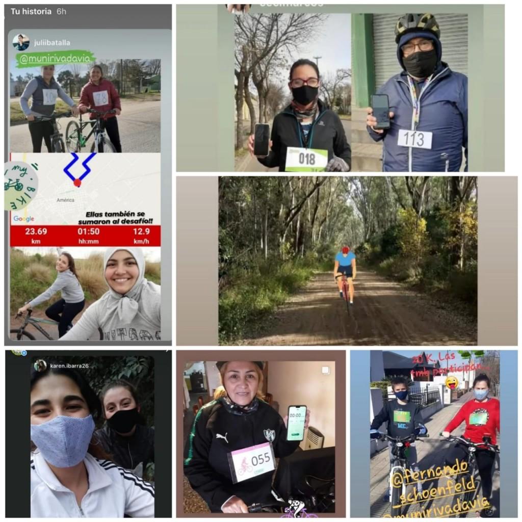 Rivadavia: Se realizó con éxito la primera carrera virtual del ciclismo