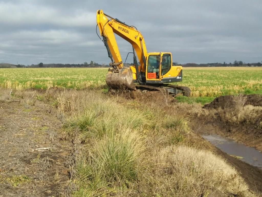 Tandil: El Municipio y la cooperativa Vial comenzaron trabajos de limpieza de desagües