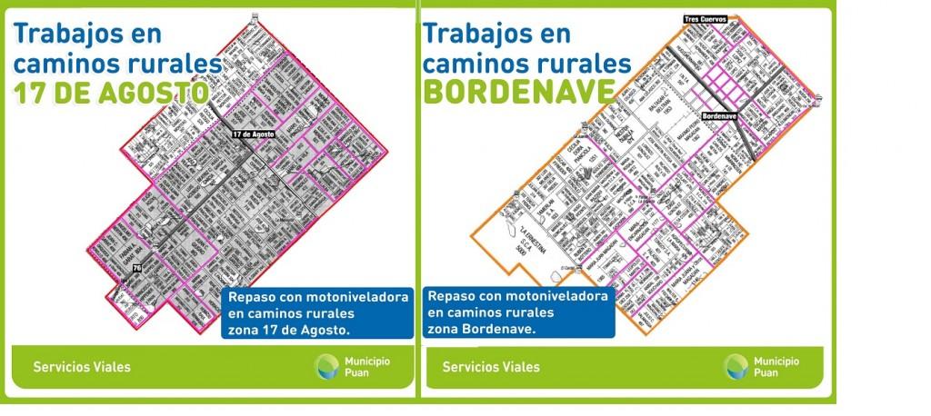 Puan: Se reanudaron los trabajos en caminos rurales de Bordenave y 17 de Agosto