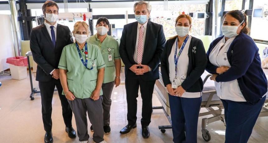 Achával junto a Alberto Fernández inauguraron el Hospital Solidario Universitario Austral
