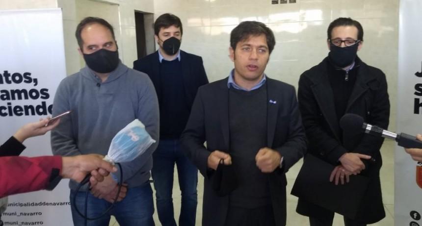 Navarro: El gobernador Kicillof y Santiago Maggiotti recorrieron el nuevo Hospital Respiratorio
