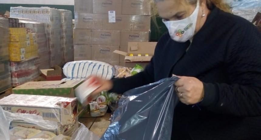 T. Lauquen: Durante mayo, el Municipio entregó 900 bolsones alimentarios