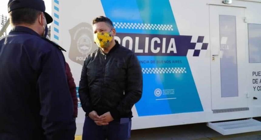 Menéndez inauguró un nuevo puesto policial en San Antonio de Padua