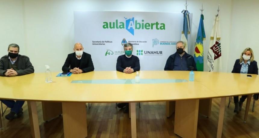 Hurlingham: El secretario PyME, Guillermo Merediz entregó fondos para el Centro de Rehabilitación de la UNAHUR destinado a pacientes con Covid-19