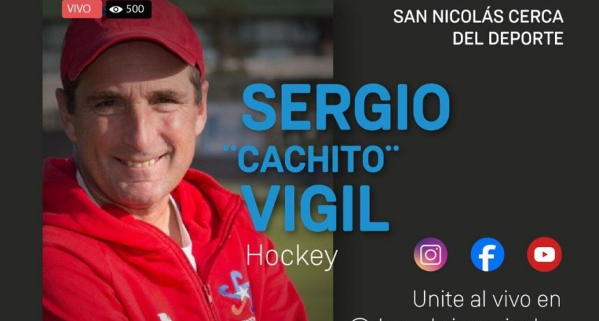 """San Nicolás: En el Ciclo de charlas deportivas, estará el DT de Hockey Femenino Sergio """"Cachito"""" Vigil"""