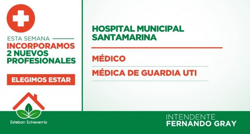E. Echeverría: El municipio incorporó 87 profesionales de la salud