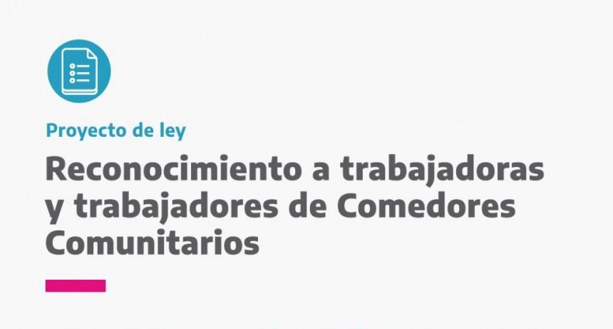 El bloque del Frente de Todos pide una asignación especial para las trabajadoras de comedores comunitarios