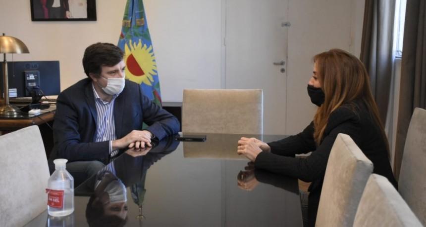 Lucas Ghi y Victoria Tolosa Paz se reunieron para articular acciones para la prevención de contagios de COVID-19 en Morón