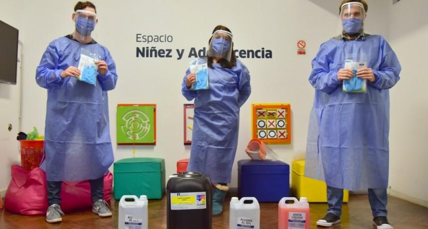 San Martín: El Municipio entrega kits de higiene y seguridad a Hogares de la ciudad