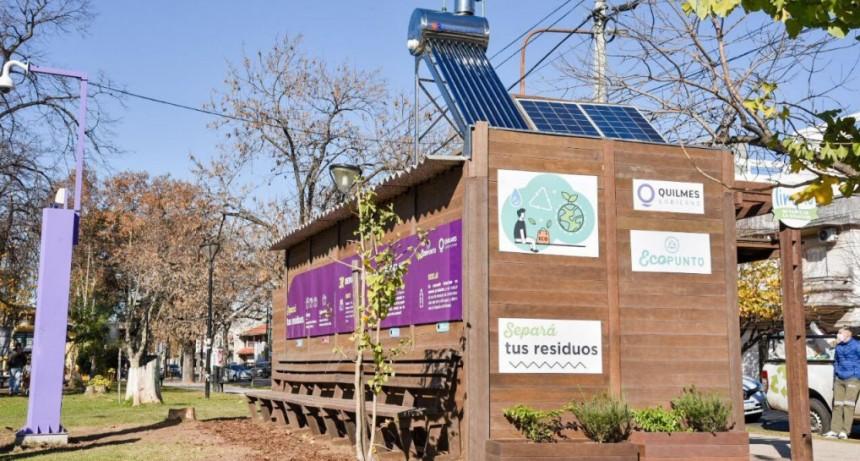 Quilmes: La intendenta Mayra Mendoza inauguró el 2° EcoPunto de Material reciclado