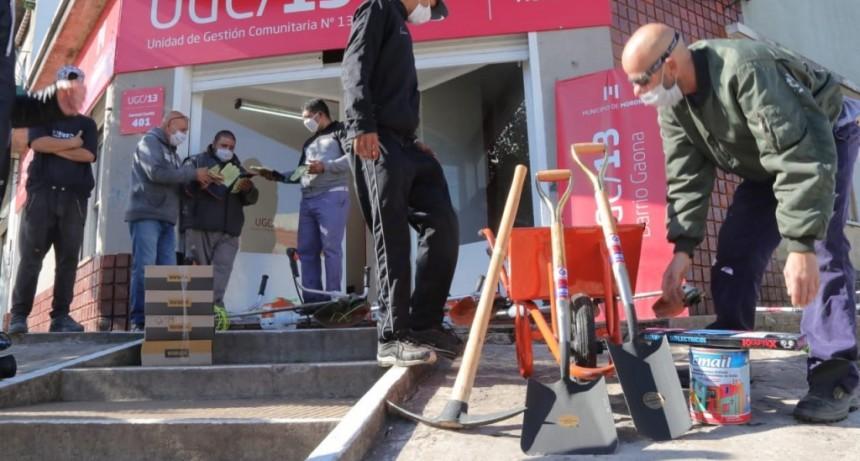 El Municipio de Morón entregó herramientas y elementos de seguridad para el personal de las 14 UGCs