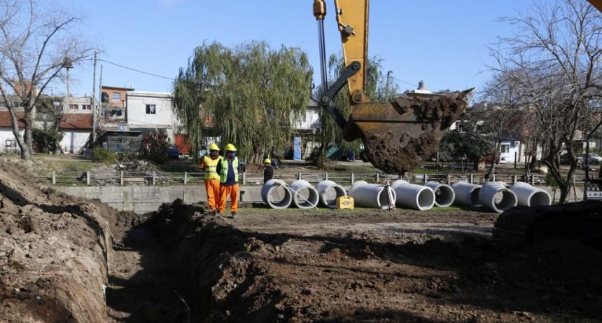 San Martín: Comenzó la obra de contención del Canal José Ingenieros