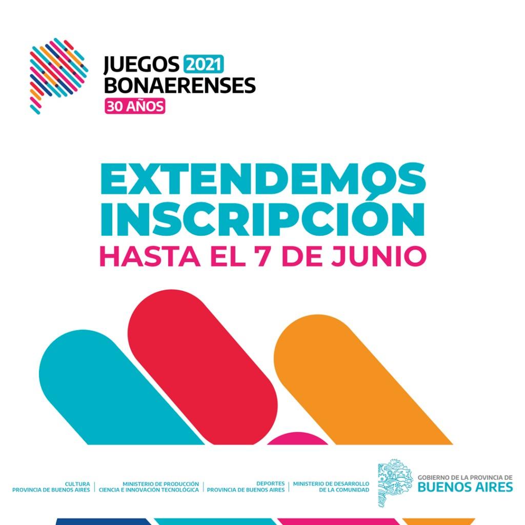 Luján: Se extendió la inscripción para los Juegos Bonaerenses 2021