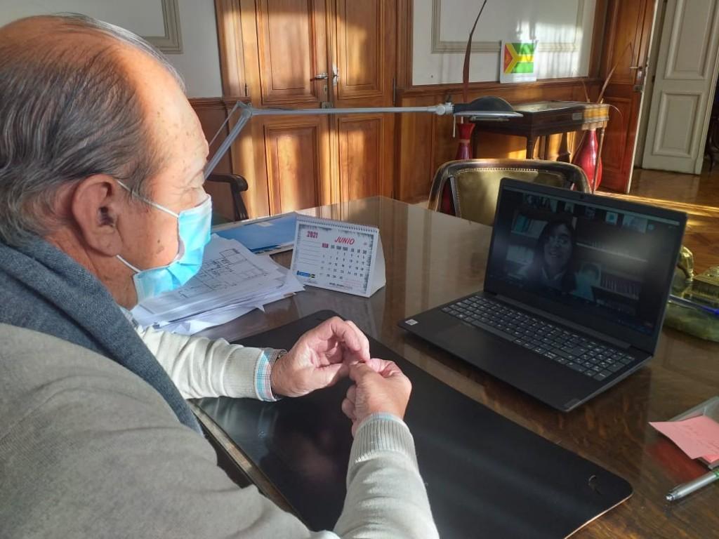 Tres Arroyos: Sanchez en reunión virtual por el día de la seguridad vial