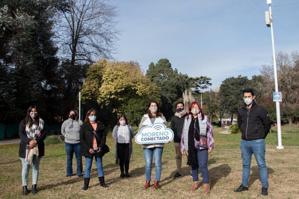 Moreno: Ampliación del acceso gratuito a internet en plazas