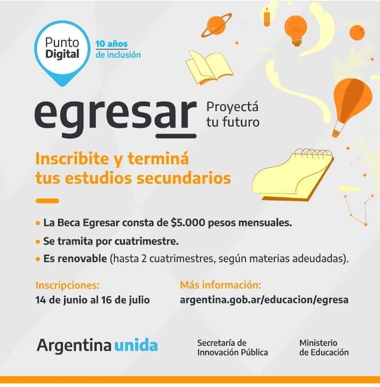 Tres Arroyos: Abre la inscripción al EGRESAR