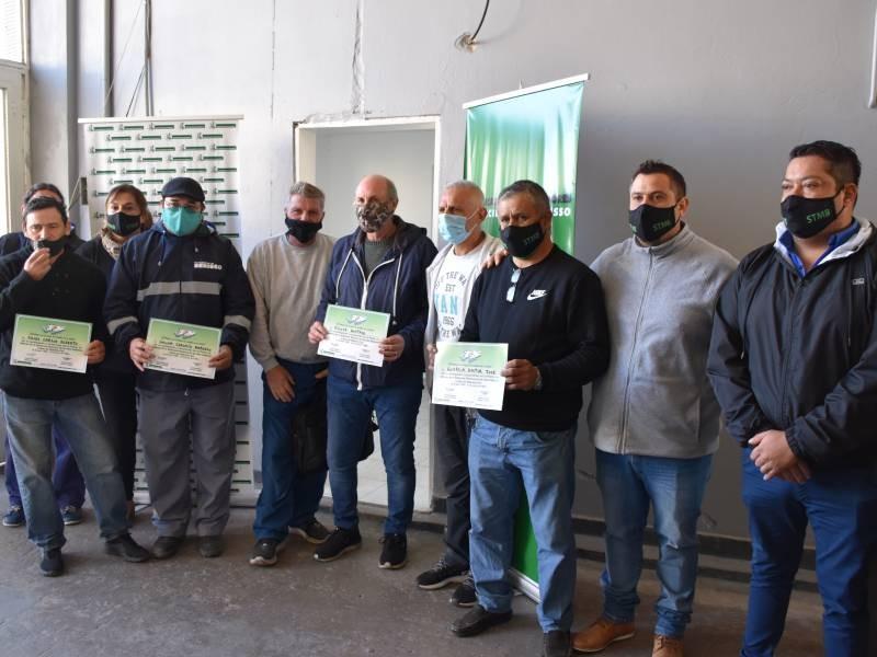 Berisso: Homenaje a los veteranos de Guerra por parte del Sindicato de Trabajadores Municipales