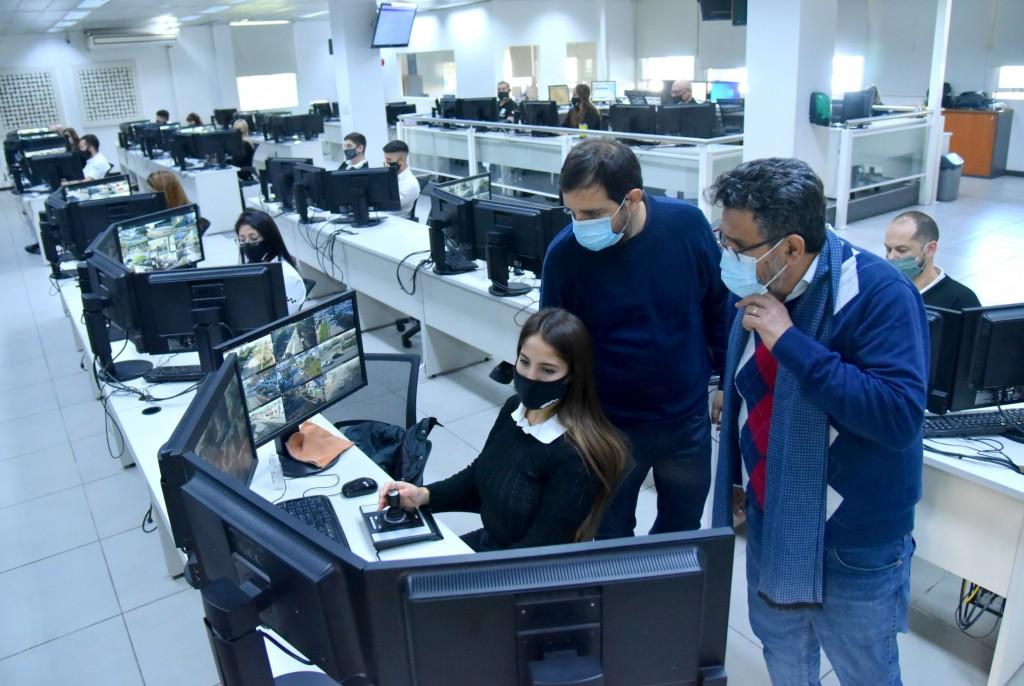 San Martín: Fernando Moreira presentó 100 nuevas cámaras de seguridad para el distrito
