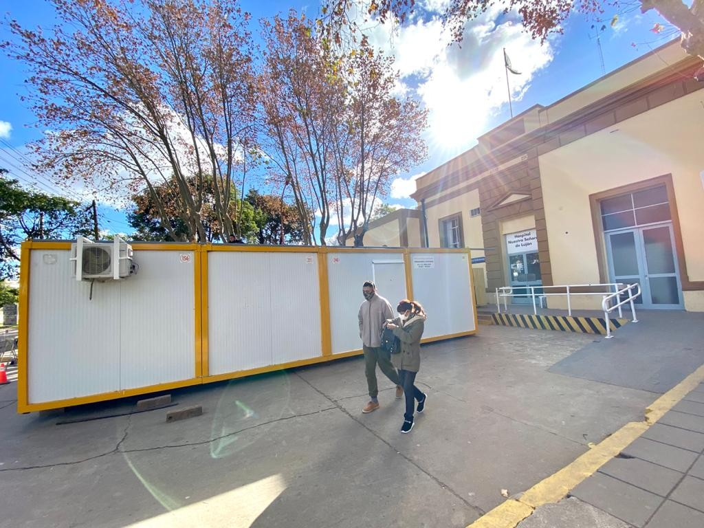 Luján: Nuevo consultorio modular en el ingreso a la Guardia