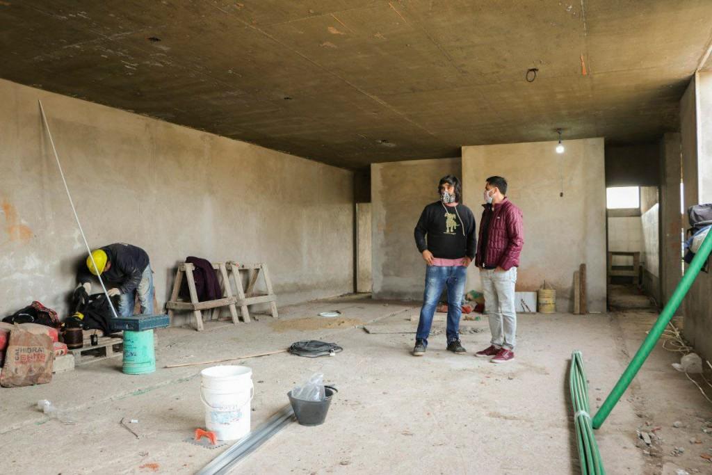 C. de Areco: Sigue avanzando la obra del Jardín Maternal N°1