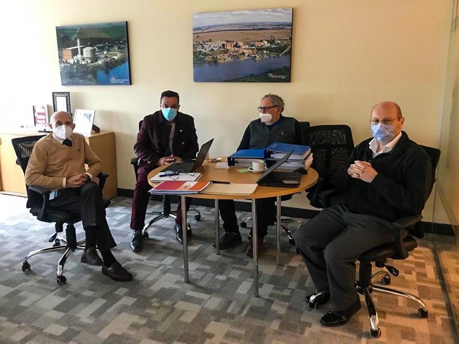 Zárate: El intendente se reunió con autoridades de Nucleoeléctrica