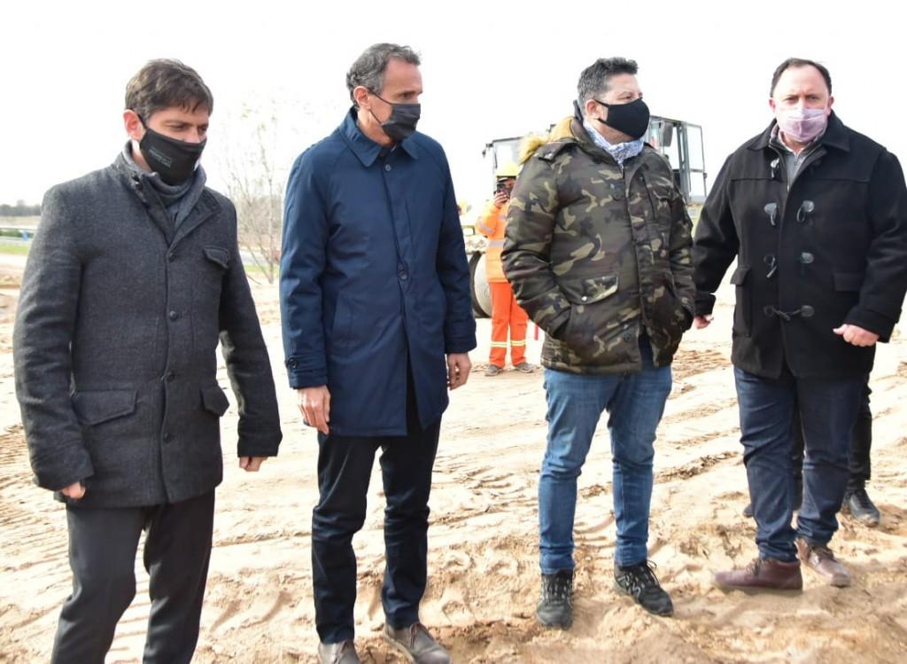 Merlo: Menéndez junto a Kicillof y Katopodis recorrieron las obras de la Autopista Presidente Perón