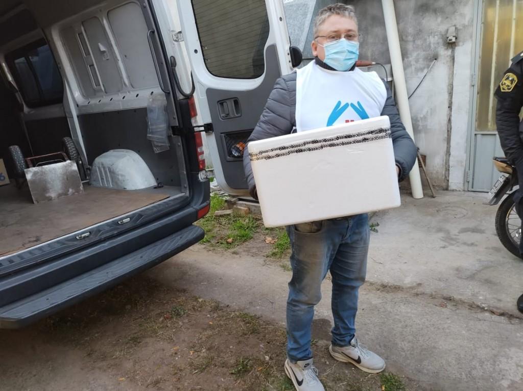 S.A. de Giles: Llegaron más vacunas contra el COVID al distrito
