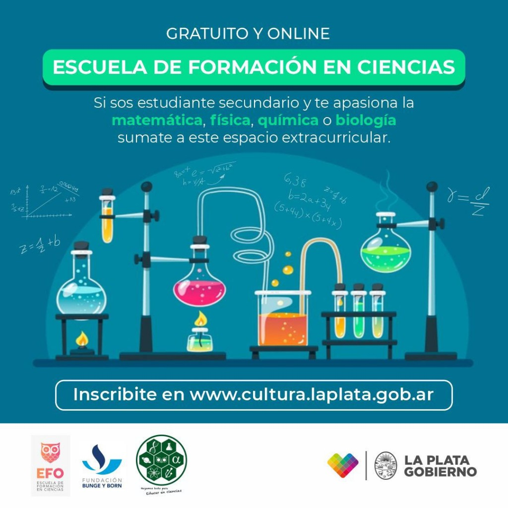 La Plata: El Municipio ofrece cursos gratuitos de matemática, física, química y biología para estudiantes secundarios