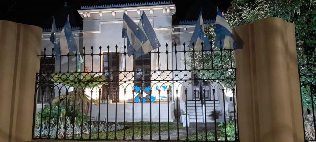 Balcarce: Casa del bicentenario y el museo histórico lucieron los colores de nuestra bandera