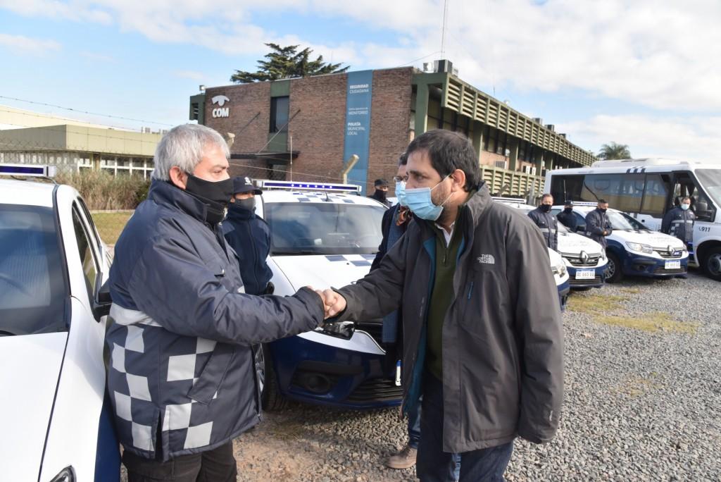 San Martín: Fernando Moreira presentó 10 nuevos patrulleros de Protección Ciudadana