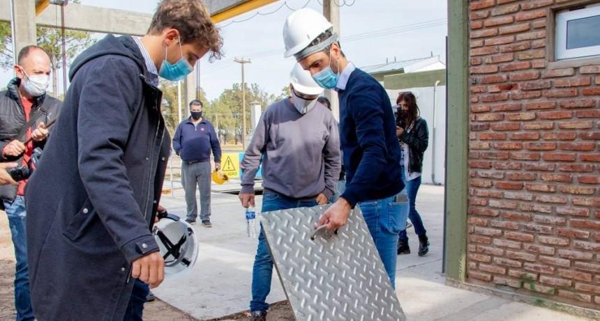 Junín: Petrecca puso en marcha la nueva Estación de Bombeo de Líquidos Cloacles